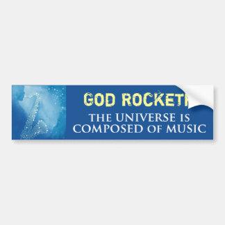 God Rocketh Car Bumper Sticker