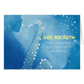 God Rocketh Card