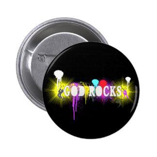 God Rocks 2 Inch Round Button
