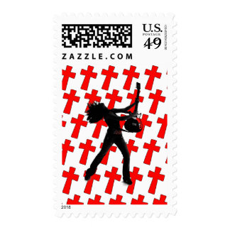 God Rocks - Christian Rock Gear Postage Stamp