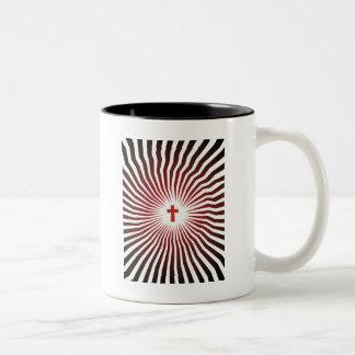 God Rocks - Christian Rock Gear Two-Tone Coffee Mug