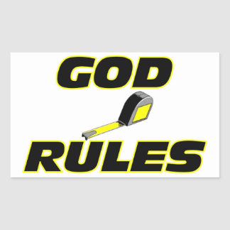 God Rules Christian Gift Rectangle Stickers
