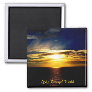God,s Beautiful World 2 Inch Square Magnet