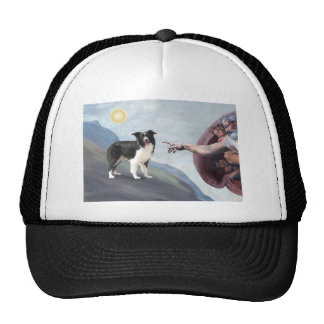 God s Border Collie Z Trucker Hats