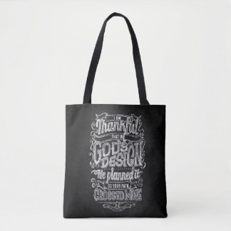 God's Design Hand lettered chalkboard gift Tote Bag