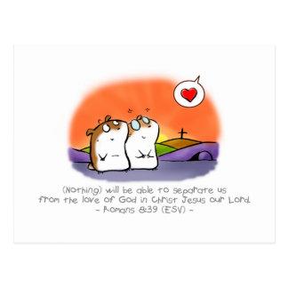 God s Inseparable Love Postcard