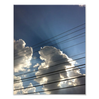 God s Lines in the Sky Photograph