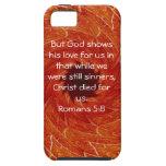 God's Love Scripture Quote Romans 5:8 iPhone 5 Case