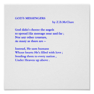 GOD S MESSENGERS POSTER