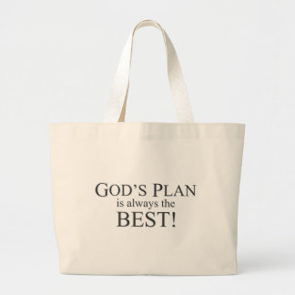 God's Plan is the Best Plan Large Tote Bag