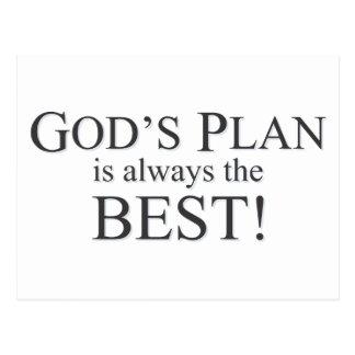 God's Plan is the Best Plan Postcard