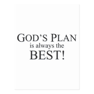 God's Plan is the Best Plan Postcard