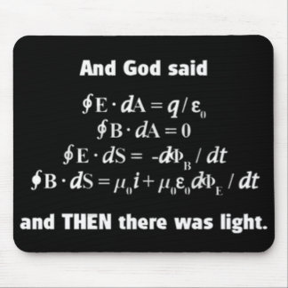 God Said Let There Be Light Religious Satire Mouse Pad
