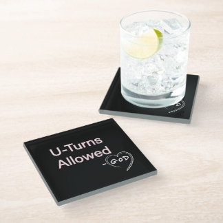 God said U-Turns Allowed Drink Coasters Humor