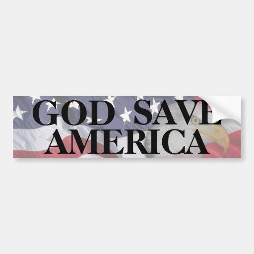 GOD SAVE AMERICA CAR BUMPER STICKER