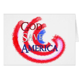God Save America Card