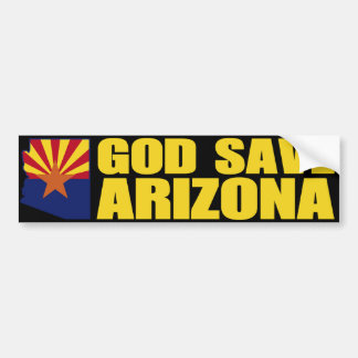 God Save Arizona Bumper Sticker