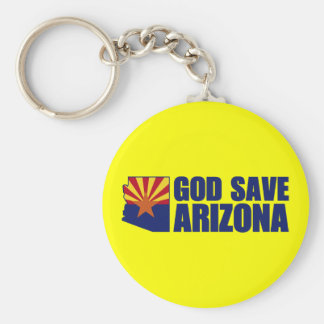 God Save Arizona Keychain
