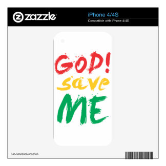 god! save me skin for iPhone 4S