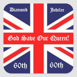God Save Our Queen!-60 years/British Flag sticker