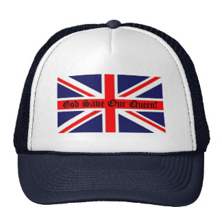 God Save Our Queen!-Union Jack Trucker Hat