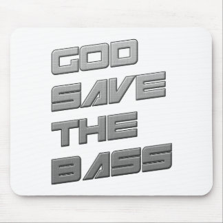 GOD SAVE THE BASS Dubstep Electro Mouse Pad