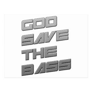 GOD SAVE THE BASS Dubstep Electro Postcard