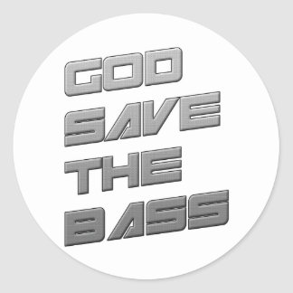 GOD SAVE THE BASS Dubstep Electro Sticker