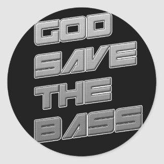 GOD SAVE THE BASS Dubstep Electro Stickers