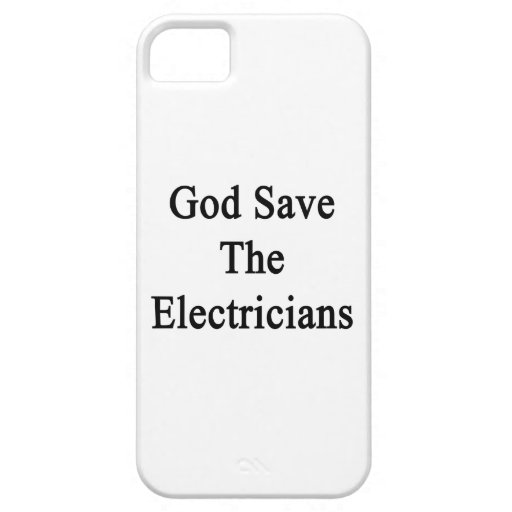 God Save The Electricians iPhone 5 Covers