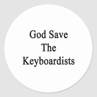 God Save The Keyboardists Round Stickers