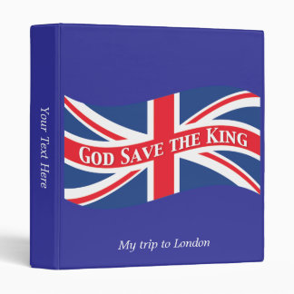 God Save the King with Union Jack Binder