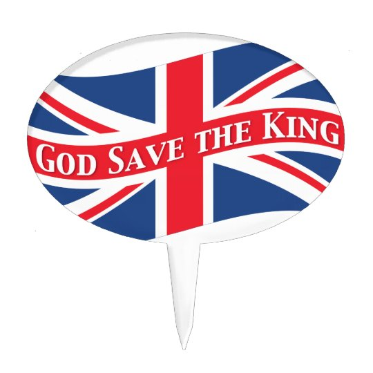 God Save the King with Union Jack Cake Topper