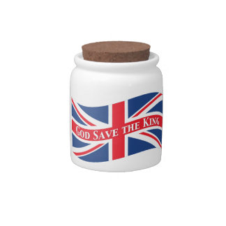 God Save the King with Union Jack Candy Dish
