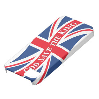 God Save the King with Union Jack iPhone SE/5/5s Case