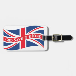 God Save the King with Union Jack Luggage Tag