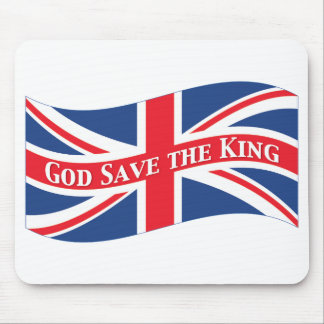 God Save the King with Union Jack Mouse Pad