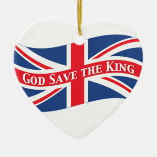God Save the King with Union Jack Christmas Ornaments