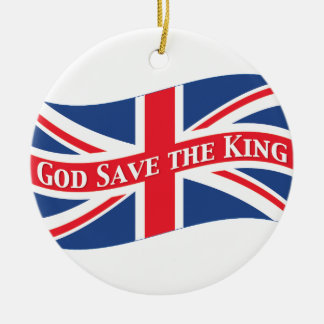 God Save the King with Union Jack Christmas Tree Ornaments