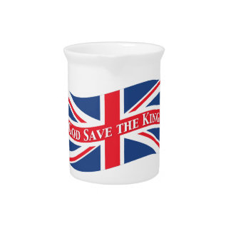 God Save the King with Union Jack Pitcher