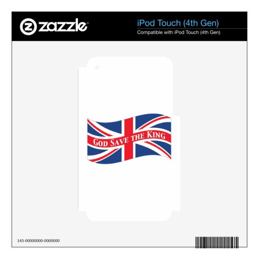 God Save the King with Union Jack iPod Touch 4G Decal