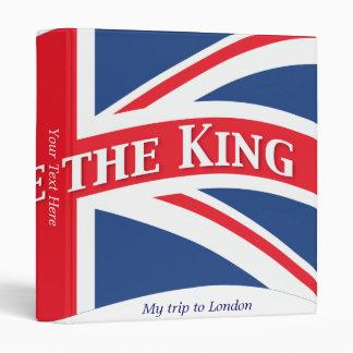 God Save the King with Union Jack Vinyl Binder