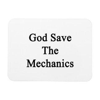 God Save The Mechanics Rectangular Magnet