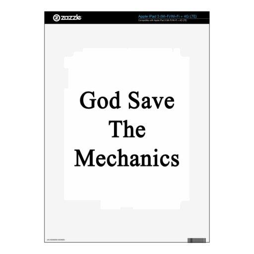 God Save The Mechanics iPad 3 Skin