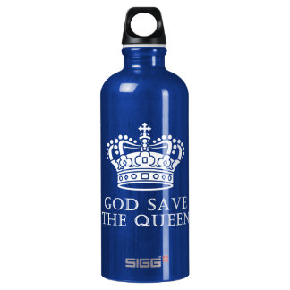 God Save The Queen Aluminum Water Bottle