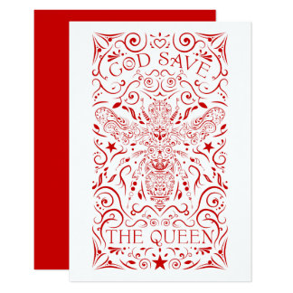 god save the queen bee card