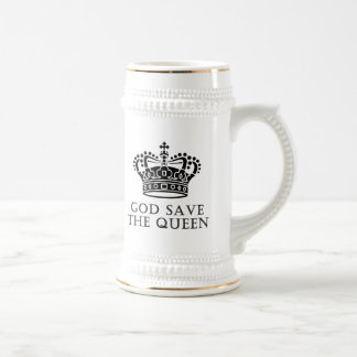 God Save The Queen Beer Stein