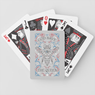 god save the queen bicycle playing cards