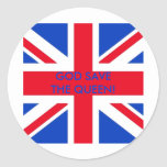 GOD SAVE THE QUEEN! CLASSIC ROUND STICKER