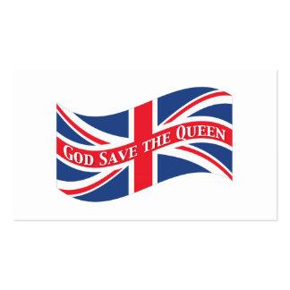 God Save the Queen con Union Jack Tarjeta De Visita